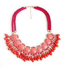 Жен. Ожерелья с подвесками Имитация Алмазный Винтаж Euramerican Красный Светло-Зеленый Бижутерия Для Для вечеринок 1шт