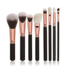 voordelige -8pcs Brush Sets Blushkwast Oogschaduwkwast Concealerkwast Poederkwast Foundationkwast Contour Brush Synthetisch haar Professioneel Beugel