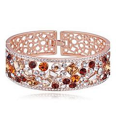 preiswerte Armbänder-Damen Armreife - Krystall Freunde, Herz Modisch Armbänder Gelb / Regenbogen / Rosa Für Geburtstag Geschenk Valentinstag