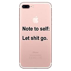Недорогие Кейсы для iPhone 7-Кейс для Назначение Apple iPhone 8 / iPhone 8 Plus Прозрачный / С узором Кейс на заднюю панель Слова / выражения Мягкий ТПУ для iPhone 8 Pluss / iPhone 8 / iPhone 7 Plus