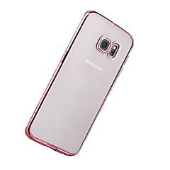 hoesje Voor Samsung Galaxy S8 Plus S8 Beplating Ultradun Transparant Achterkantje Effen Kleur Zacht TPU voor S8 S8 Plus S7 edge S7 S6