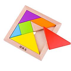 رخيصةأون -TANGRAM تركيب ألعاب الألغاز ألعاب مربع سميك للجنسين قطع