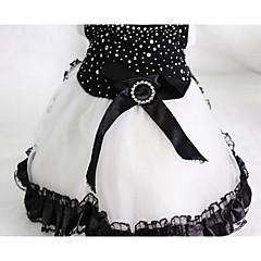 Χαμηλού Κόστους Ρούχα και αξεσουάρ για σκύλους-Σκύλος Φορέματα Ρούχα για σκύλους Χαριτωμένο Καθημερινά Μοντέρνα Ριγέ Κόκκινο Μπλε Ροζ Μαύρο/Άσπρο Στολές Για κατοικίδια