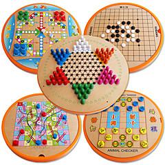 abordables Juegos de Mesa-Juegos de Mesa Juguetes Circular Madera Piezas Niños Unisex Regalo