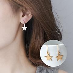 abordables Pendientes-Mujer Pendientes colgantes - Estrella Básico, Estilo lindo Dorado / Plata Para Fiesta Diario Casual