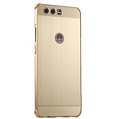 Mert Galvanizálás Case Hátlap Case Egyszínű Kemény Alumínium mert HuaweiHuawei P10 Plus Huawei P10 Huawei P8 Lite (2017) Huawei Honor 6X