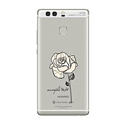 お買い得  Huawei Mateケース/ カバー-のために クリア パターン ケース バックカバー ケース フラワー ソフト TPU のために HuaweiHuawei P10 Plus Huawei P10 Huawei社P9 Huawei社P9ライト Huawei P9 Plus Huawei社P8 Huawei P8