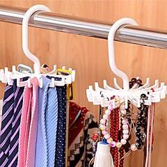 abordables Almacenamiento para Dormitorio y Salón-ajustable 20 gancho rotating belt rack bufanda organizador hombres corbata perchas