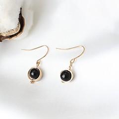 お買い得  イヤリング-女性用 スタッドピアス  -  樹脂 ファッション, 欧米の ブラック 用途 日常