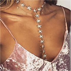 preiswerte Halsketten-Damen Quaste / Lang Layered Ketten - Strass Personalisiert, Einzigartiges Design, Quaste Gold, Silber Modische Halsketten Für Party, Besondere Anlässe, Alltag