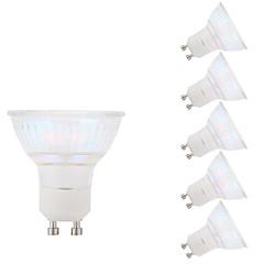 5.5W GU10 Focos LED MR16 1 leds COB Blanco Fresco 450lm 6500K AC 100-240V