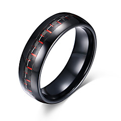 cheap Men's Jewelry-Men's Ring Personalized Basic Euramerican Fashion Simple Style Tungsten Steel Round Circle Geometric Costume Jewelry Party Anniversary