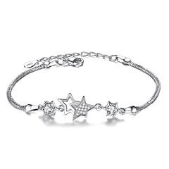 preiswerte Armbänder-Damen Ketten- & Glieder-Armbänder - Sterling Silber Stern Modisch Armbänder Weiß / Purpur Für Weihnachts Geschenke Party Besondere Anlässe