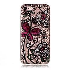 billige iPhone-etuier-Til apple iphone 7 7 plus 6s 6 plus se 5s 5 5c tilfælde cover sommerfugl blomster mønster hd malet tpu materiale imd proces telefon sag