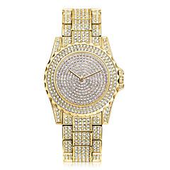 preiswerte Damenuhren-Damen Quartz Armbanduhr Chinesisch Cool Edelstahl Band Freizeit / Modisch Silber / Gold