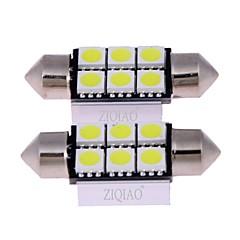 voordelige Autobinnenverlichting-ZIQIAO Automatisch Lampen W SMD 5050 lm Interior Lights