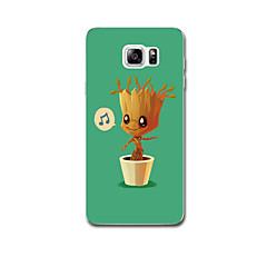 For Etuier Ultratyndt Mønster Bagcover Etui Træ Blødt TPU for Samsung Note 5 Note 4 Note 3