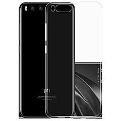 Недорогие Чехлы и кейсы для Xiaomi-Кейс для Назначение Xiaomi Ультратонкий Прозрачный Кейс на заднюю панель Сплошной цвет Мягкий ТПУ для Xiaomi Mi 6