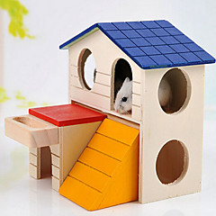 Wood Fastness Relaxed Fit Pet Friendly Animals Quiet Waterproof Hutches Rainbow