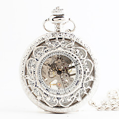 お買い得  レディース腕時計-女性用 懐中時計 日本産 クォーツ 透かし加工 合金 バンド ハンズ ヴィンテージ 白 - ホワイト