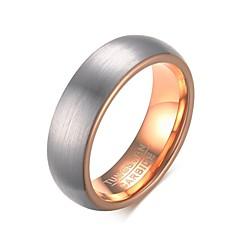 Χαμηλού Κόστους Ανδρικά κοσμήματα-Ανδρικά Δαχτυλίδι Ασημί Βολφραμιούχος Χάλυβας Κυκλικό Circle Shape Geometric Shape Εξατομικευόμενο Βασικό Euramerican Μοντέρνα