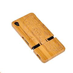 Недорогие Чехлы и кейсы для Sony-Кейс для Назначение Sony Xperia Z3 Sony Защита от удара Кейс на заднюю панель Имитация дерева Твердый деревянный для Sony Xperia Z3 Sony