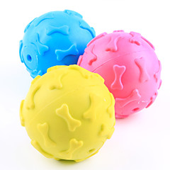 Dog Toy Pet Toys Ball Chew Toy Squeak / Squeaking Bone Rubber For Pets