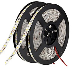 cheap LED Strip Lights-Flexible LED Light Strips 600 LEDs Warm White White Green Yellow Blue Red Cuttable Self-adhesive Suitable for Vehicles Linkable DC 12V