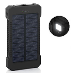 The New 6000mah Ddual-Usb Solar Powered Mobile Power Power Banks