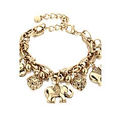 Γυναικεία Βραχιόλι αστραγάλου/Βραχιόλια Κράμα Πεπαλαιωμένο κοστούμι κοστουμιών Ελέφαντας Κοσμήματα Για Καθημερινά Causal