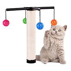 Χαμηλού Κόστους Παιχνίδια για γάτες-Παιχνίδι για γάτες Παιχνίδια για κατοικίδια Διαδραστικό Μπλοκ για ξύσιμο νυχιών Ανθεκτικό Sisal Για κατοικίδια