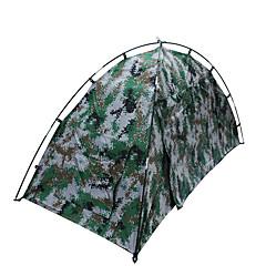 1 사람 텐트 더블 베이스 캠핑 텐트 원 룸 접이식 텐트 방수 휴대용 비 방지 용 하이킹 캠핑 1500-2000 mm 유리 섬유 옥스포드 CM