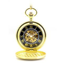 お買い得  レディース腕時計-男性用 女性用 懐中時計 機械式時計 自動巻き 合金 バンド ゴールド