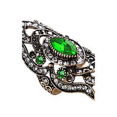 preiswerte Ringe-Damen Geometrisch Statement-Ring / Ring - Glas, Aleación Personalisiert, Luxus, Einzigartiges Design 7 / 8 / 9 Rot / Grün / Blau Für Party / Jahrestag / Geburtstag