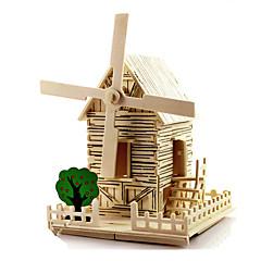Sets zum Selbermachen 3D - Puzzle Windmühle Spielzeugautos Spielzeuge Windmühle Berühmte Gebäude Haus Architektur Heimwerken Unisex Stücke