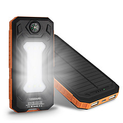 The New 10000mah  Ssolar Charger Camping Lamp Compass Universal Ssolar Mobile Power Supply