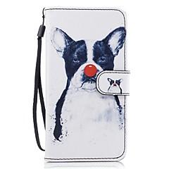 Для Кошелек Бумажник для карт со стендом Флип С узором Кейс для Чехол Кейс для С собакой Твердый Искусственная кожа для HuaweiHuawei P9