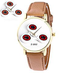 voordelige Nieuwe collectie-Unisex Modieus horloge Kwarts PU Band Blauw Roze Kaki