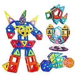 저렴한 -조립식 블럭 마그네틱 블록 마그네틱 빌딩 세트 168 pcs 선물 마그네틱 광장 원형 삼각형 3D 아동용 남아 선물