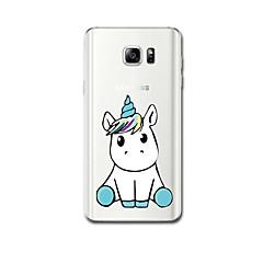 tanie Galaxy Note 5 Etui / Pokrowce-Kılıf Na Samsung Galaxy Ultra cienkie Wzór Czarne etui Jednorożec Miękkie TPU na Note 5 Note 4 Note 3