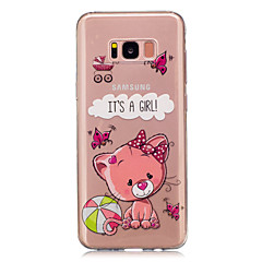 Για Διαφανής Με σχέδια tok Πίσω Κάλυμμα tok Γάτα Μαλακή TPU για Samsung S8 S8 Plus S5 Mini S4 Mini