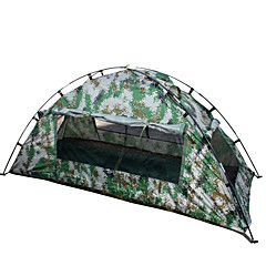 1 사람 텐트 싱글 캠핑 텐트 원 룸 접이식 텐트 방수 휴대용 용 하이킹 캠핑 2000-3000 mm 유리 섬유 옥스포드 CM