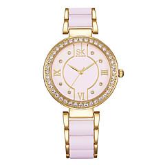 voordelige Kettinghorloge-Dames Modieus horloge Horlogeketting Gesimuleerd Diamant Horloge Japans Kwarts Waterbestendig Stootvast Legering Band Amulet Luxe Vintage