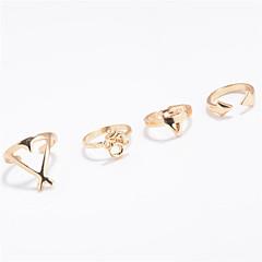 お買い得  ジュエリーセット-女性用 指輪 ジュエリー オリジナル ファッション 欧米の 日常 カジュアル アウトドア クロム 幾何学形 リング