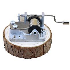 Spieluhr Spielzeuge Retro Quadratisch Holz Stücke Unisex Geburtstag Geschenk