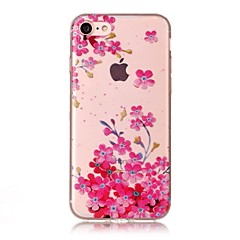 Недорогие Кейсы для iPhone-Кейс для Назначение Apple iPhone 7 / iPhone 7 Plus IMD / Прозрачный / С узором Кейс на заднюю панель Цветы Мягкий ТПУ для iPhone 7 Plus / iPhone 7 / iPhone 6s Plus