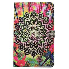 Til Samsung Galaxy Tab t580 t530 pu læder materiale sorte blomster mønster malet fladt beskyttelses cover t550 t560 t280 t350
