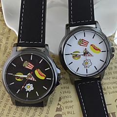 Women's Fashion Watch Hamburger pattern Chinese Quartz PU Band Cartoon Black