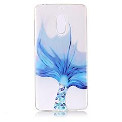 billige Etuier til Nokia-For Etuier Transparent Mønster Præget Bagcover Etui blondedesign Blødt TPU for Nokia Nokia 6
