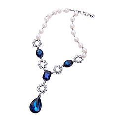 preiswerte Halsketten-Damen Kristall Anhängerketten  -  Personalisiert, Modisch, Euramerican Dunkelblau Modische Halsketten Für Hochzeit, Party, Herzliche Glückwünsche